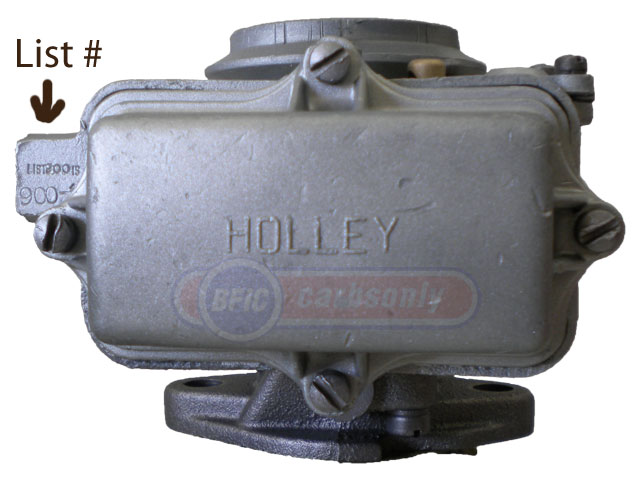 Holley Carburetor Model 1904 ffuel bowl side