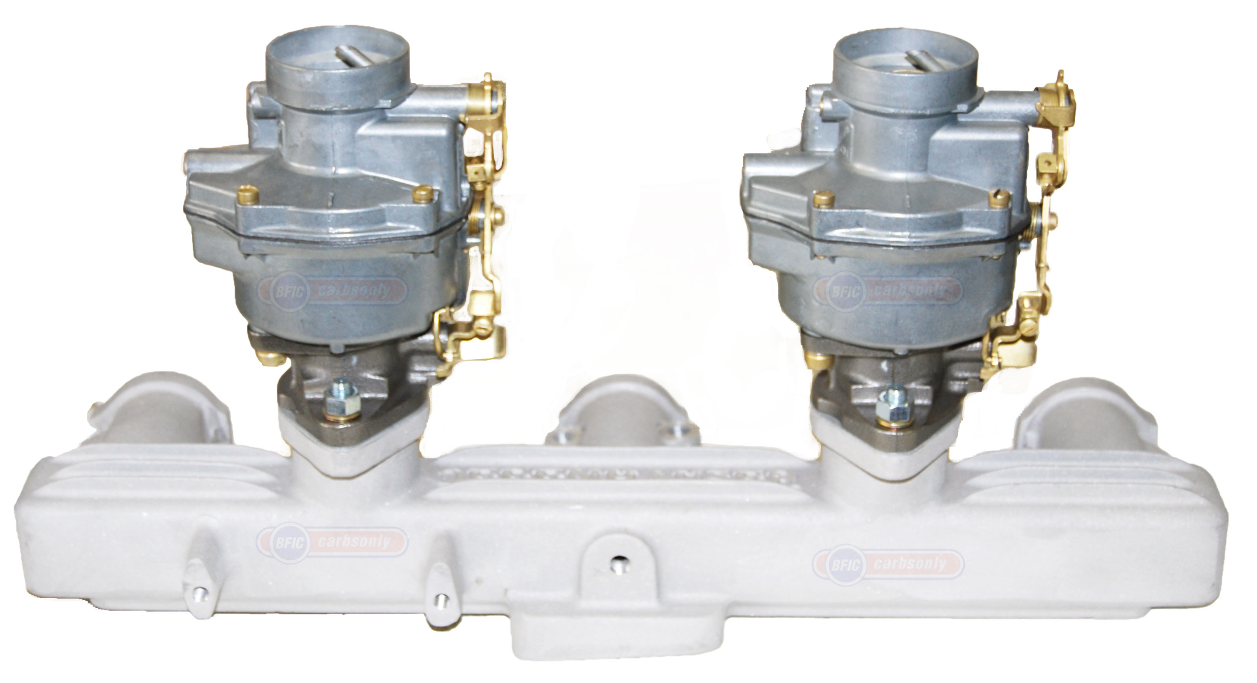 Dual Rochester carburetors 1bl with Offenhouser manifold
