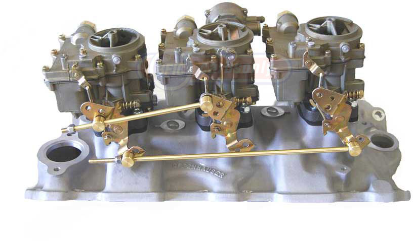 tripower set dual Rochester carburetor with offenhouser manifold